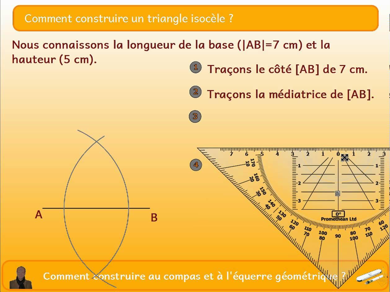 comment calculer l 39 air d 39 un triangle isoc le. Black Bedroom Furniture Sets. Home Design Ideas